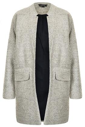 Notch Neck Throw On Coat - Boyfriend & Cocoon Coats - Jackets & Coats  - Clothing - Topshop