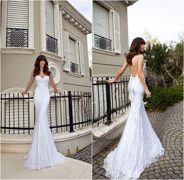 dress mermaid wedding dress lace wedding dress vintage wedding dress backless sexy wedding dress