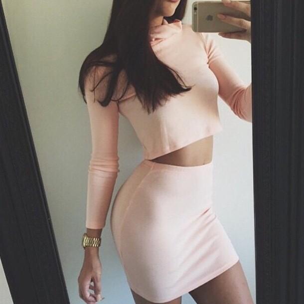 top skirt jewels pink dress fashion style