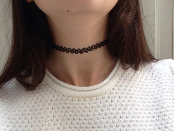 jewels choker necklace choker necklace necklace black necklace black choker help plz pretty jewerly