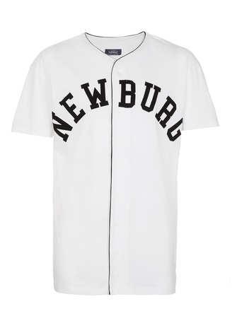 White Newburg Baseball T-Shirt - Gifts for Sons  - Christmas Shop  - TOPMAN