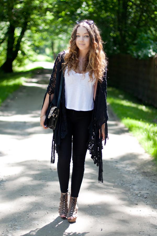 kolorowa dusza top pants bag sunglasses jewels shoes cardigan