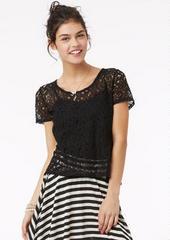 Zip Back Lace Top                 -                              Shirts & Blouses                 -                              Sale                                           - dELiA*s