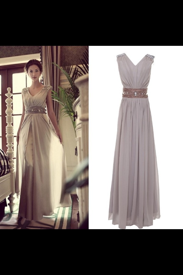 dress prom dress evening dress long evening dress long prom dress long homecoming dress grey dress clothes formal dress elegant