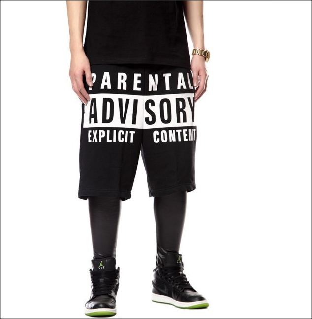 Parental Advisory Shorts *RARE* SWAG DOPE BELIEBER JAMAL VAZQUEZ JUSTIN BIEBER EPICMOB EPICMOBONLINE.COM MOB CLOTHING - Epic Mob Clothing