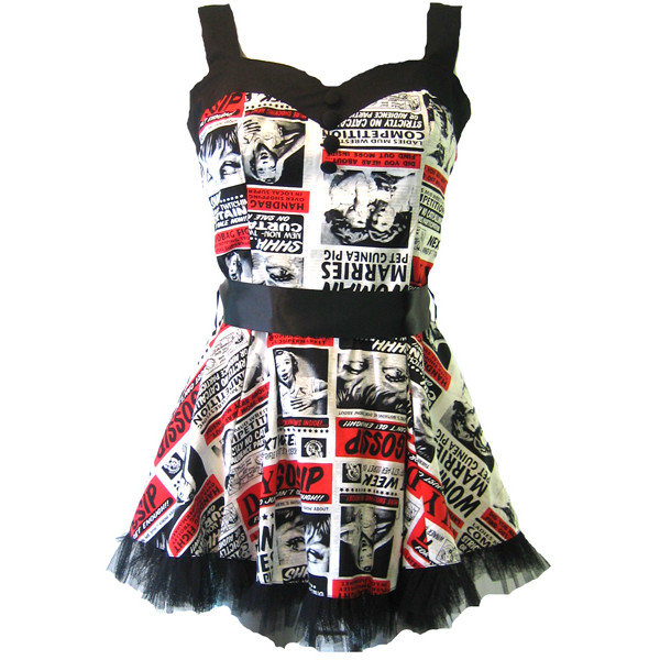 Hell Bunny Gossip Dress | Gothic Clothing | Emo clothing | A... - Polyvore