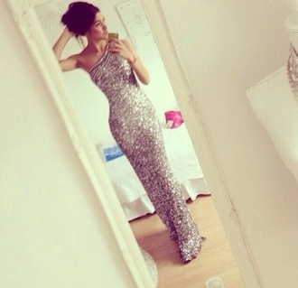 dress prom dress long prom dress mermaid prom dress sequin prom dress sequin long dress sequins cute like prom tag shopping happy gorgeous pretty amazing gold sliver black gold & sliver silver glitter long one shoulder scala