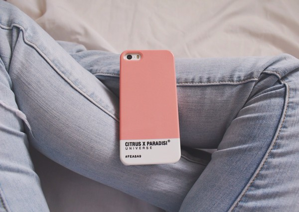jewels phone cover pink iphone case dusty pink urban pastel pink phone cover white earphones pastel pink