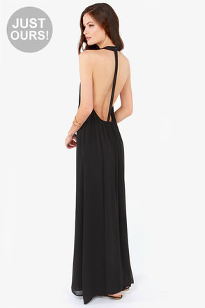 Sexy Black Dress - Maxi Dress - T Back Dress - $47.00