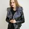 Star leather fur jacket