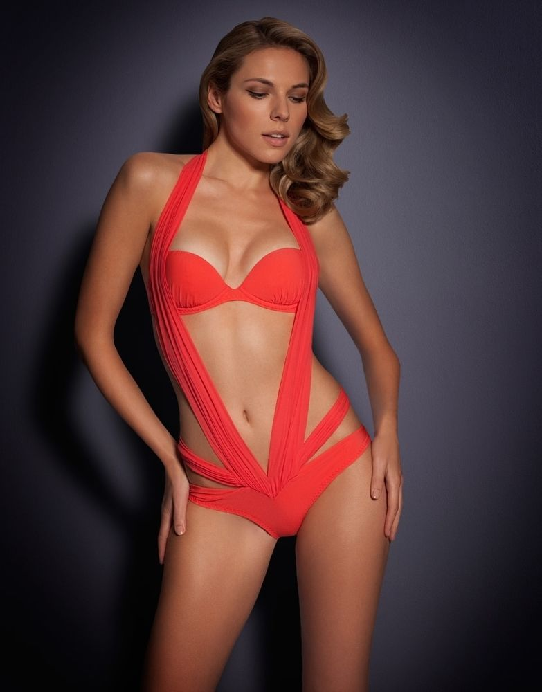 AGENT PROVOCATEUR LYSSANDRA RED SWIMSUIT SIZE 36B RED BIKINI SWIMWEAR | eBay