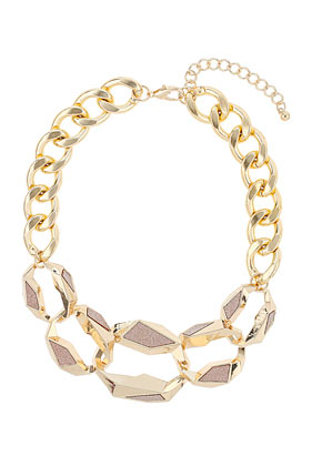 Pink Glitter Chain - Jewellery  - Bags & Accessories  - Topshop
