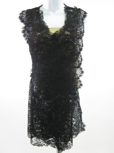 Caroline Seikaly Lace Dress Nude Slip SZ 38 $1610 | eBay