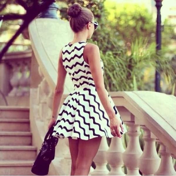 dress black and white dress prom dress