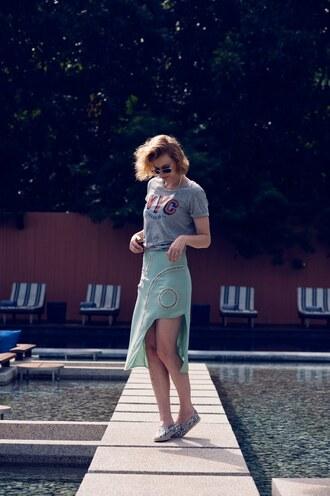zanita skirt t-shirt jewels shoes sunglasses