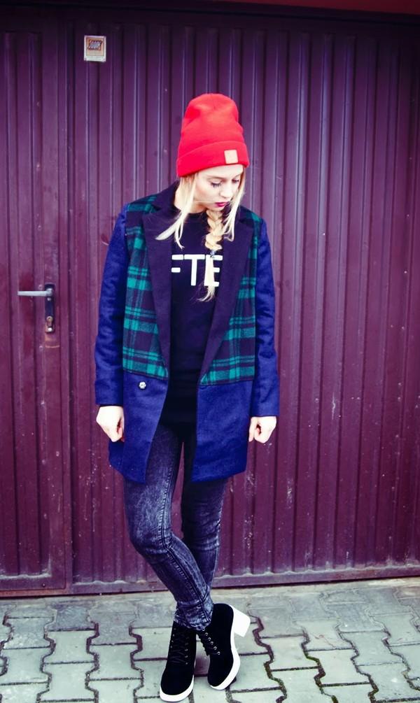 sylvia gaczorek coat blouse hat pants shoes