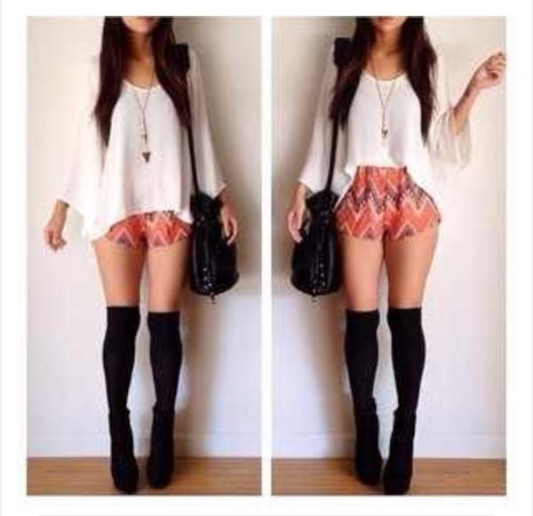 blouse shorts