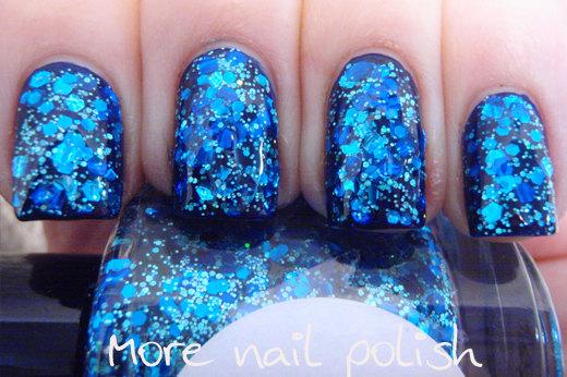 Beneath the Blue Hand made custom nail polish by GlimmerbyErica