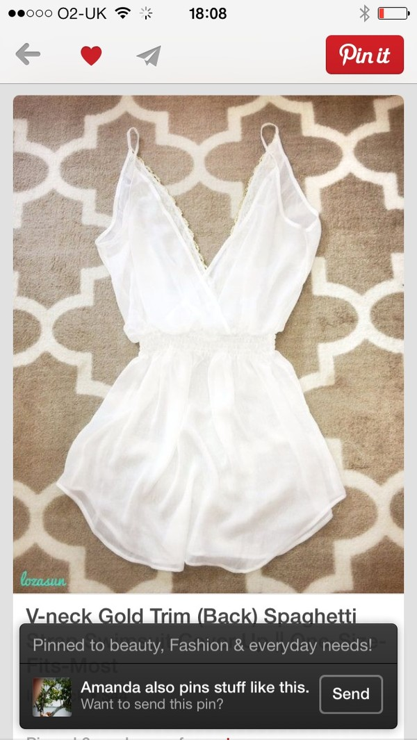 swimwear white cover up play suit summer wear