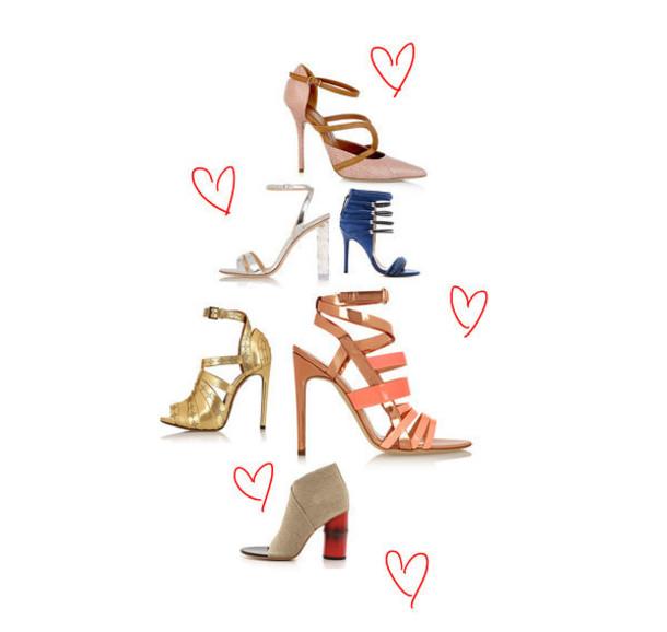 zanita blogger heels gold shoes