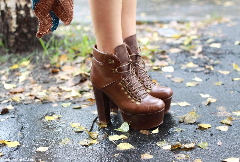 Jeffrey Campbell Everest Platform Hiking Lita Ankle Boot Bootie 8 Brown Leather   eBay