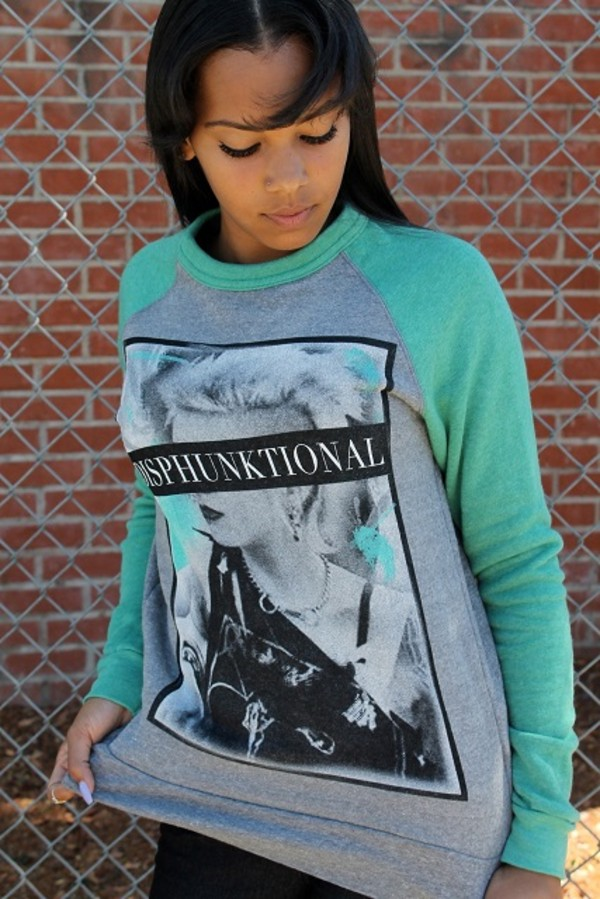 sweater crewneck crewneck sweater ariana grande