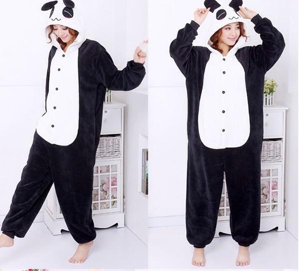 sweater kigurumi panda cute panda it's so adorable black and white kawaii