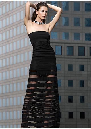 A.L.C. Rib Seam Detail Flare Skirt: Navy-A.L.C.-Designers-Categories- IntermixOnline.com