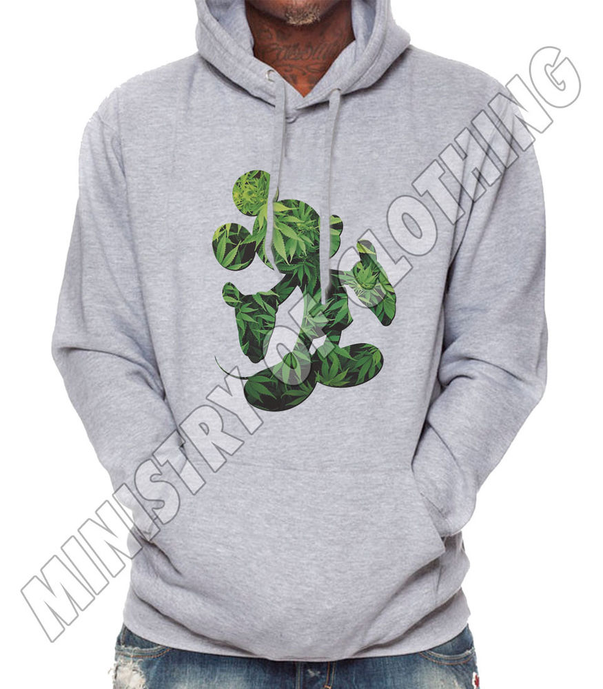 MICKEY MOUSE HANDS HOODIE CANNABIS YMCMB WEED DISOBEY DOPE HOODED JUMPER NEW | eBay