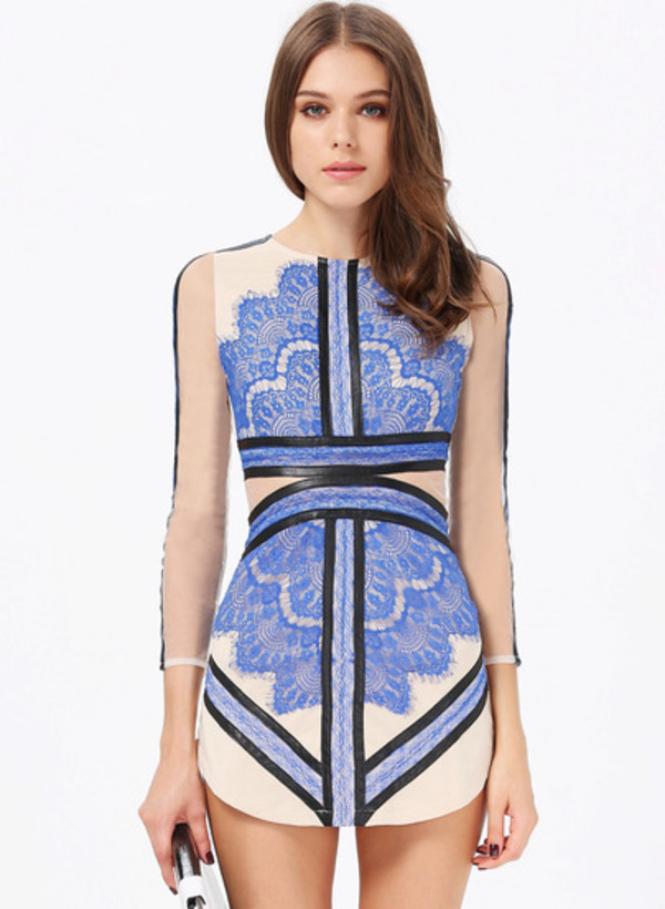 dress cut-out haute couture nude striped dress