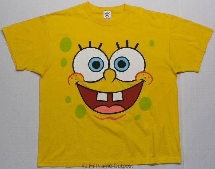 Spongebob Squarepants Short Sleeve T Shirt Mens Size XL | eBay