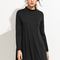 Black mock neck shift dress -shein(sheinside)