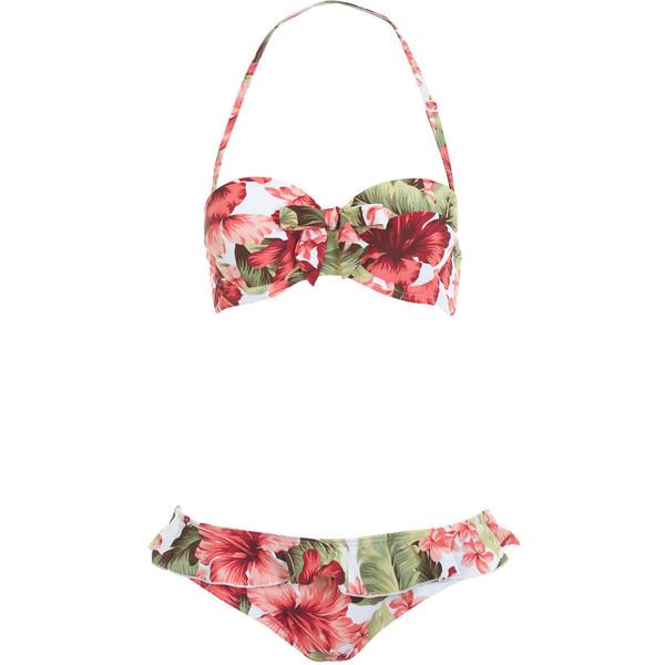 Naomi Floral Bikini - Miss Selfridge - Polyvore