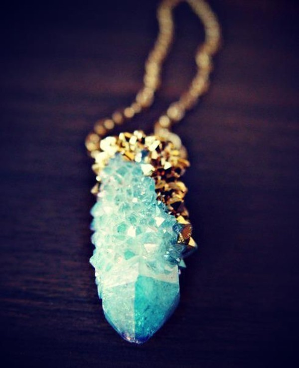 jewels necklace gold turquoise jewelry turquoise stone crystal