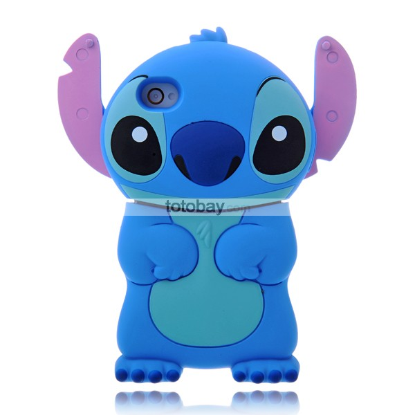 Lovely 86Hero Cartoon Stitch 3D Stand Hard Case Cover for iPhone 4/4S