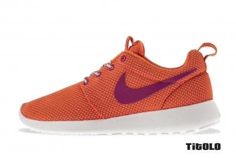 Nike Wmns Rosherun 511882-801 511882 801  Trf Orange/Bright Magenta-S spry-Whi