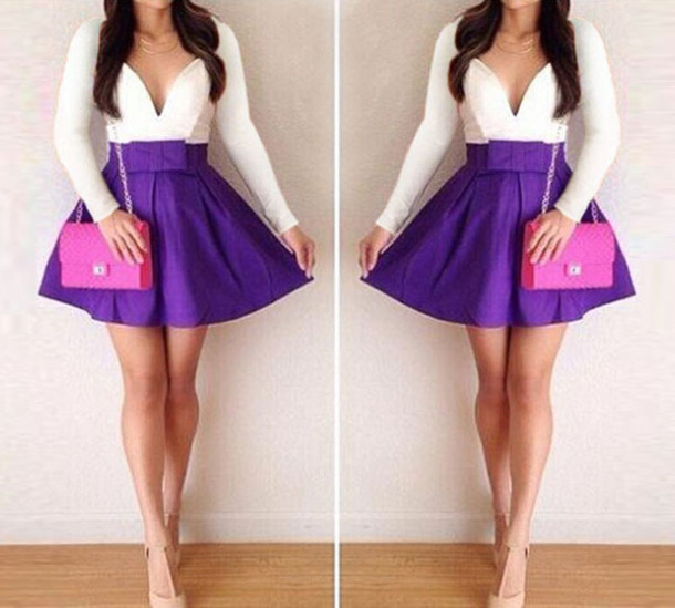 dress purple dress bow dress party dress