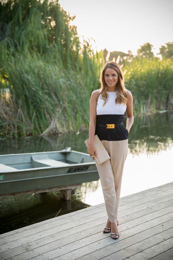 gal meets glam jumpsuit belt bag shoes