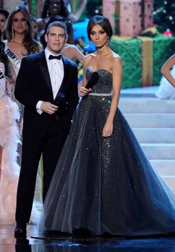 dress giuliana rancic  dress prom dress black prom dress