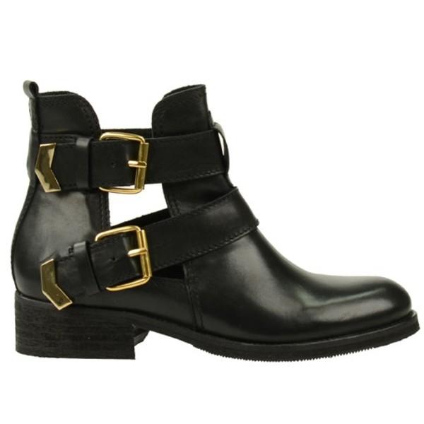 shoes fashion cut-out boots