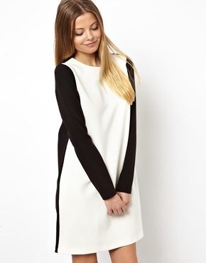ASOS | ASOS Shift Dress With Contrast Panel at ASOS
