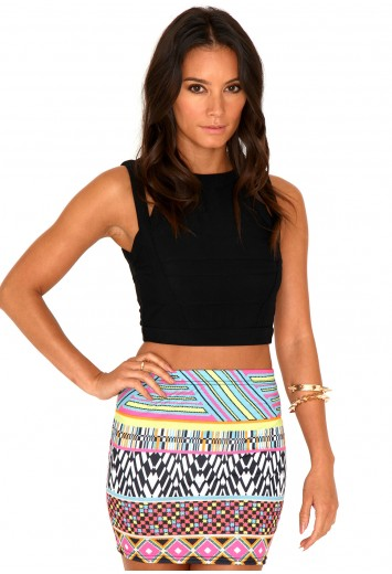 Mariani Aztec Mini Skirt - Skirts - Missguided