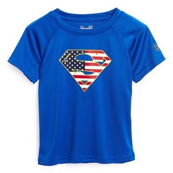 Under Armour 'Alter Ego USA - Superman' HeatGear T-Shirt (Little Boys) on Wanelo