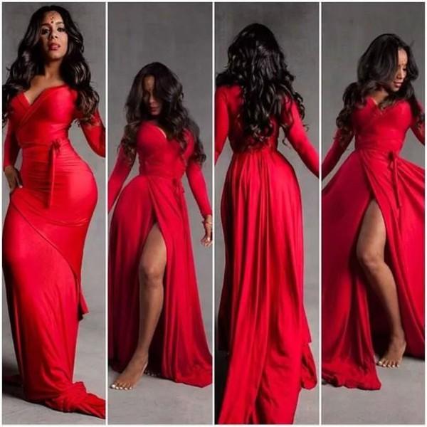 dress dress red dress chiffon dress sexy fashion