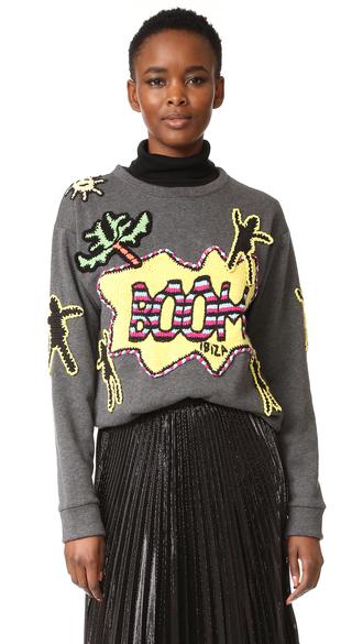 sweater fashion clothes ibiza sweatshirt crew neckline michaela buerger