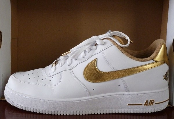 shoes nike all star game 2011 metallic gold white special edition hollywood los angeles nike air force 1 nike air force 1 basketball shoes
