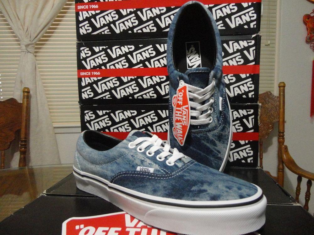 Vans Era Acid Denim Blue US 11 Canvas Slip Era TNT Cab Lite Doen Boat Authentic | eBay