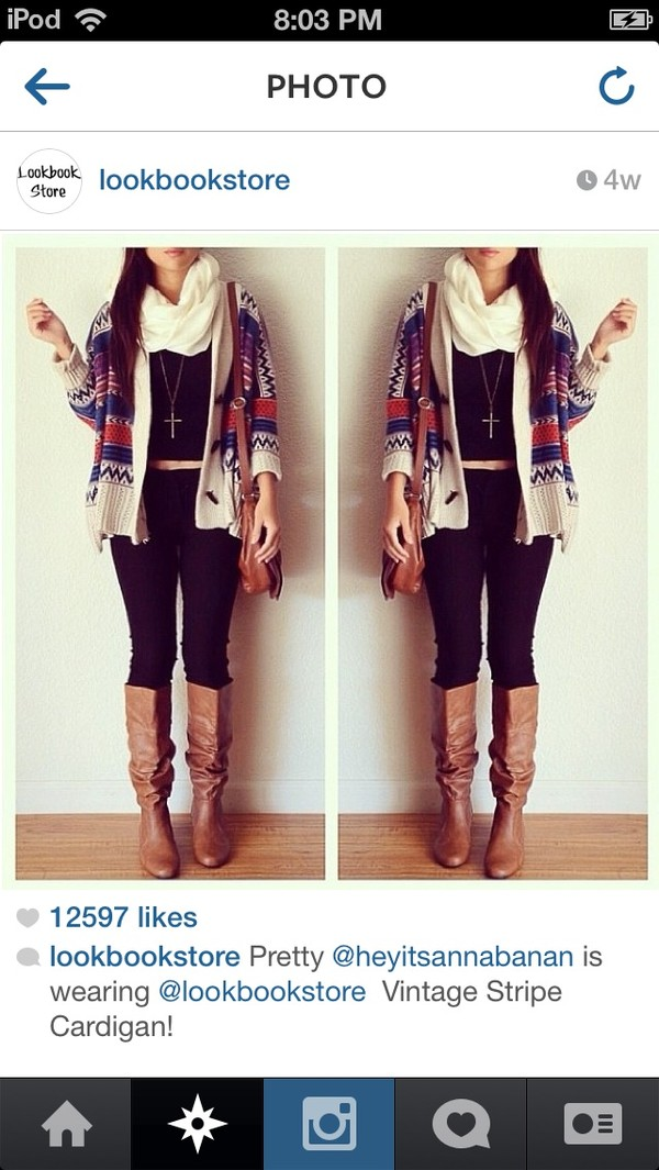 sweater tribal pattern cardigan