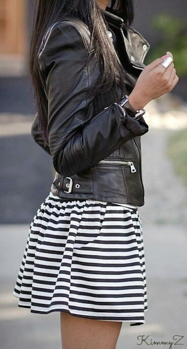 skirt jacket dress white and black striped stripes black & white striped fashion colorful