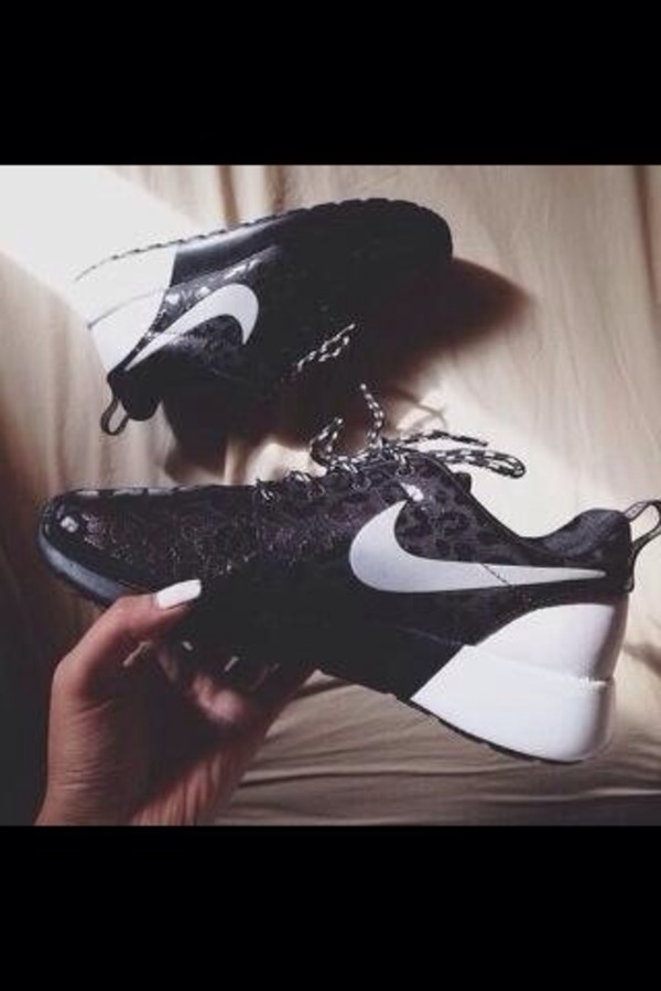 shoes black white nike roshe run run nike leopard print exclusive nike roshe run nike sneakers black and white cheetah is the new black leopard print leapord nike roshe run